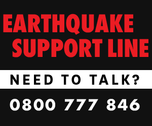 Earthquake Support Line. Need to talk? 0800 777 846.