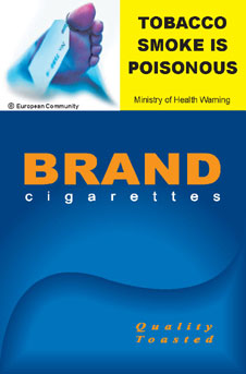 Image of the Poison cigarette packet design - front