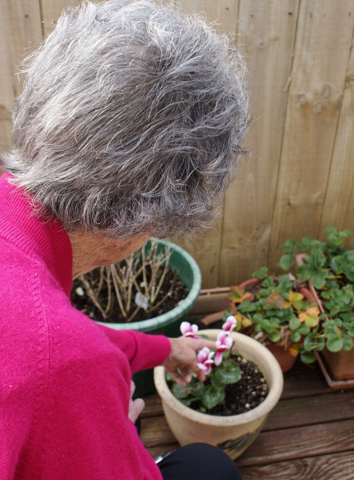 Garden activities at Brooklands Rest Home and Memory Care