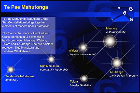 Te Pae Mahutonga diagram.