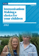 Immunisation: Making a choice for your children booklet cover.
