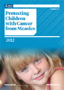 Protecting Children with Cancer from Measles booklet cover.
