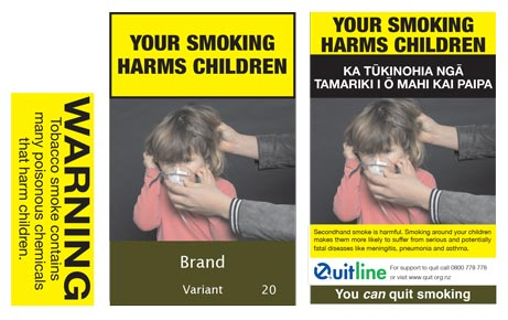 Your smoking harms children