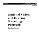 National Vision and Hearing Screening Protocols - revised 2014 cover