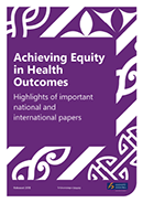 Achieving Equity in Health Outcomes.
