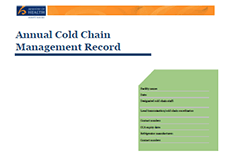 Annual Cold Chain Management Record.