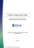 New Zealand Autism Spectrum Disorder Guideline: Supplementary evidence on supported employment services