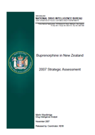 Buprenorphine in New Zealand 2007 Strategic Assessment cover.