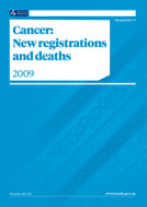 Cancer: New registrations and deaths 2009 cover thumbnail.