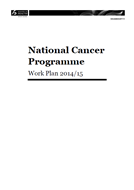 National Cancer Programme Work Plan 2014/15