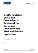 Death, Funerals, Burial and Cremation.