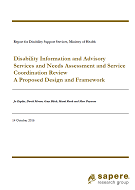 Disability Information and Advisory Services and Needs Assessment and Service Coordination Review.