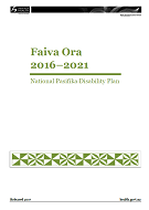 Faiva Ora 2016–2021 National Pasifika Disability Plan