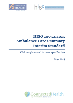 Ambulance Care Summary Standard.