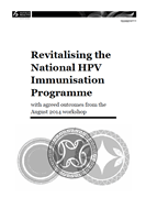 Revitalising the National HPV Immunisation Programme.