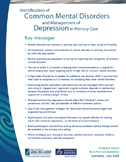 Identification of common mental disorders and management of depression in primary care summary