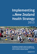 Implementing the New Zealand Health Strategy 2013 cover