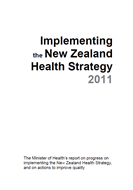 Implementing the New Zealand Health Strategy 2011 cover