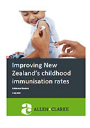 Improving New Zealand's childhood immunisation rates.