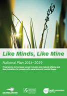 Like Minds, Like Mine National Plan 2014-2019 cover