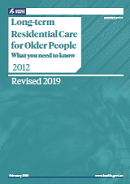 Long-term Residential Care for Older People.