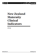 New Zealand Maternity Clinical Indicators 2015 cover
