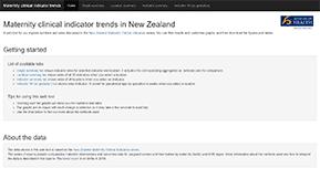 New Zealand Maternity Clinical Indicators 2018.