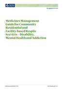 medicines care guide cover