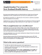 Amphetamine Use 2015/16: New Zealand Health Survey.