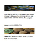 Ngai Māori Insights For A Kaupapa Māori Primary (Community) Mental Health And Addictions Service Model.
