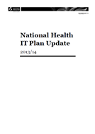 National Health IT Plan Update 2013/14 cover