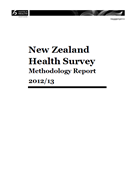 New Zealand Health Survey Methodology Report 2012/13 cover
