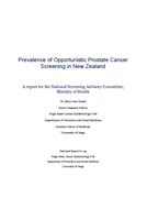 Prevalence of Opportunistic Prostate Cancer Screening in NZ cover.