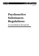 Psychoactive Substances Regulations: A consultation document cover