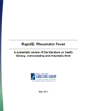 Rheumatic fever: a systematic review of the literature on health literacy, overcrowding and rheumatic fever