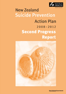 Suicide Prevention Action Plan progress report cover thumbnail.