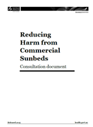 Reducing harm caused by commercial sunbeds