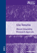 Uia Tonutia:  Māori Disability Research Agenda cover thumbnail.
