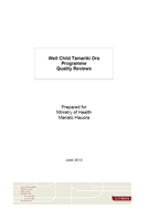 The Well Child / Tamariki Ora Programme Quality Reviews cover