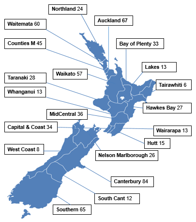 New Zealand District Health Boards Map.Use Of Health Services By Older People Ministry Of Health Nz