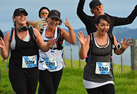 Photo of a group doing a run.