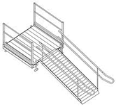 Illustration of a removable outdoor ramp.