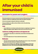 After Your Child is Immunised leaflet thumbnail.