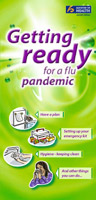 Getting ready for a flu pandemic brochure.