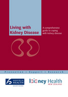 Living with Kidney Disease booklet cover.