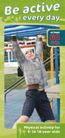 Be Active Every Day pamphlet for kids cover image.