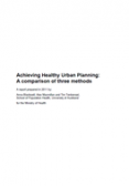 Achieving healthy urban planning: A comparison of three methods cover