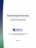New Zealand Autism Spectrum Disorder Guideline: Supplementary evidence on applied behaviour analysis