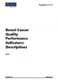 Bowel Cancer Quality Performance Indicators: Descriptions 2019.