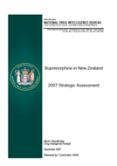 Buprenorphine in New Zealand 2007 Strategic Assessment cover.